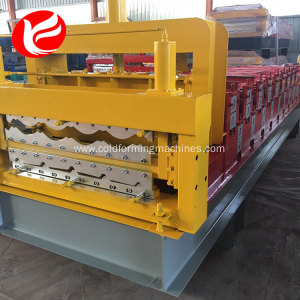 High quality double layer metal roof wall tile roll forming machine