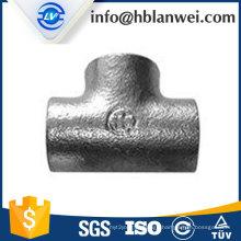 BS galvanized plain tee M.I. pipe fittings