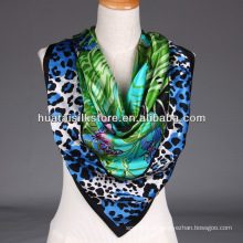 Sexy Lady Scarf Leopard e Borboleta Tropical Print xale cachecol