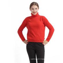 Nouveau design personnalisé Chine pull en cachemire rouge