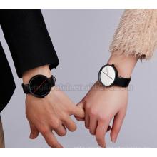 Простой, но элегантный стиль для любителей нержавеющей стали часы в черный и белый