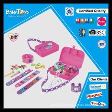 Brincos diy conjunto de brinquedos para a menina com caixa de pdq grânulos atacado