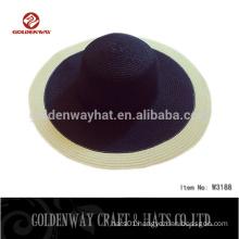 lady flat wide brim straw beach hats for sale