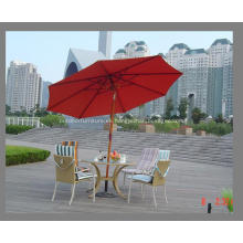 Paraguas de madera Tilt Polo 8ribs tela roja