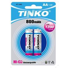 com CE/SGS da famosa indústria 800mah aa bateria recarregável boa qualidade