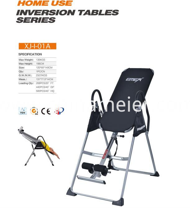 Canvas Back Inversion Table
