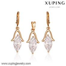 60924 cheap jewelry online fashion simple exquisite a variety of colors big diamond gold plated jewelry sets