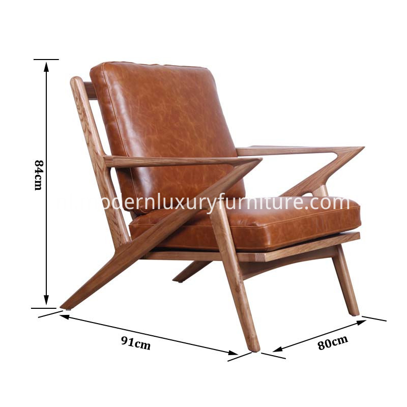 wood lounge chair size
