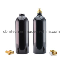 Hot Sale 0.8L Refillable Seamless Paintball CO2 Gas Cylinders with on/off Valve