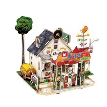 Modelo de madeira 3D DIY Mini House Toy