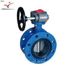 Manual-operated Rubber-Seat Double Eccentric Butterfly Valve