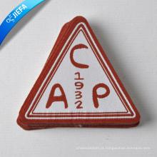 Preço de fábrica Marca logotipo Triangle Woven Patch