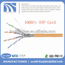 Orange 1000FT 4pairs Cat5 Network STP Cable