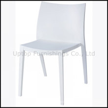 Elegance White Plastic Chair pour salle à manger en gros (sp-uc138)