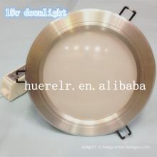 Éclairage encastré à LED ip65 100-240v led15w downlight 2500lumens