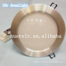 Led утопленный свет ip65 100-240v led15w светильник 2500lumens