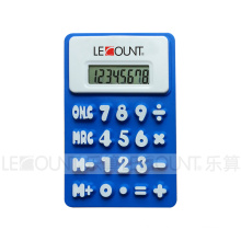 Promotion Gift 8 Digits Foldable Silicon Calculator with Magnet (LC510B)