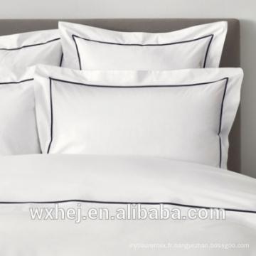 Usine 100% coton standard broderie décorative taie d'oreiller