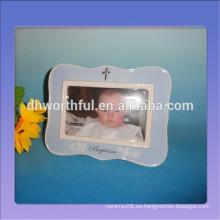 Marcos de cerámica pintados a mano de la foto para el regalo de la ducha de bebé en alta calidad