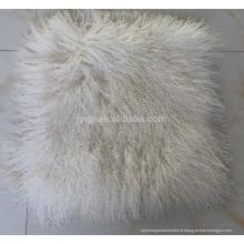 Nouvelle collection mongolain en peau de mouton coussin de siège en tissu