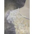 Alibaba Guangzhou Kleider Factory Cap Ärmel Chiffon echte Probe Hochzeitskleid