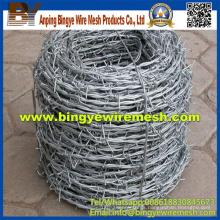 14 Gauge 25kg / Roll electro galvanizado alambre de púas Precio