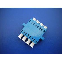 LC / PC Sm Adaptador de fibra óptica Quad