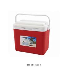 Refrigerador plástico de 15 litros, caixa do refrigerador de gelo, caixa plástica do refrigerador