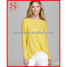 ladies hand knitted sweater solid color loose long sleeve women fashion wear