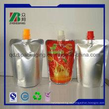Plastikfolienbeutel im Karton mit Auslauf oder Ventil