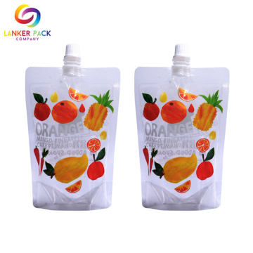 BRC Custom Stand Up Tute Juice Packaging Bag