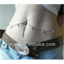 Nouvelle conception de nombril piercing piercing bijoux indienne ventre chaîne