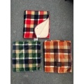 Flannel Blanket with Sherpa