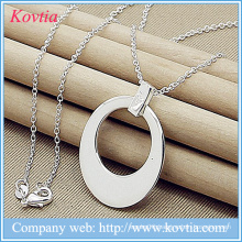Jewelry sterling sliver necklace moon pendant necklace africa sliver chains necklace