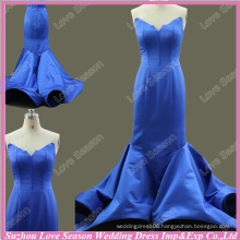 RP0069 Real princess bonned patters trumpet satin long prom dresses big girl sexy evening dress real royal blue formal dress