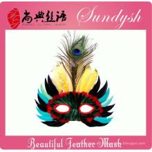 Cabeza de pájaro único hecho a mano máscara de plumas máscaras