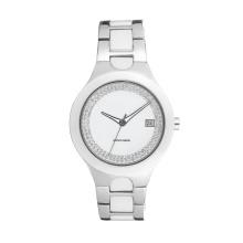 2017 Badatibg Venda Quente De Quartzo de Aço Inoxidável e Cerâmica Assista Lady Relógios OEM