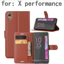 Cell Phone Wallet Case for Sony X Performance