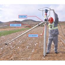 Base de boulon d'ancrage au sol anti-corrosif adapté aux besoins du client par vis
