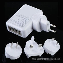 4 Port Universal Usb Travel Charger Wall Ac Adapter For Home , Multi Plug