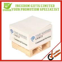 Top-Qualität maßgeschneiderte hölzerne Palette Papier Memo Cube