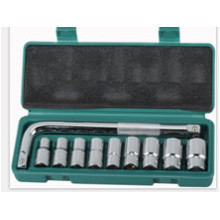 "10PCS 1/2"" Chrome Plated Socket Set for Hand Tool Car Repair"
