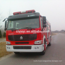 SINOTRUK HOWO 7000liter fire truck water capacity new fire truck for sale