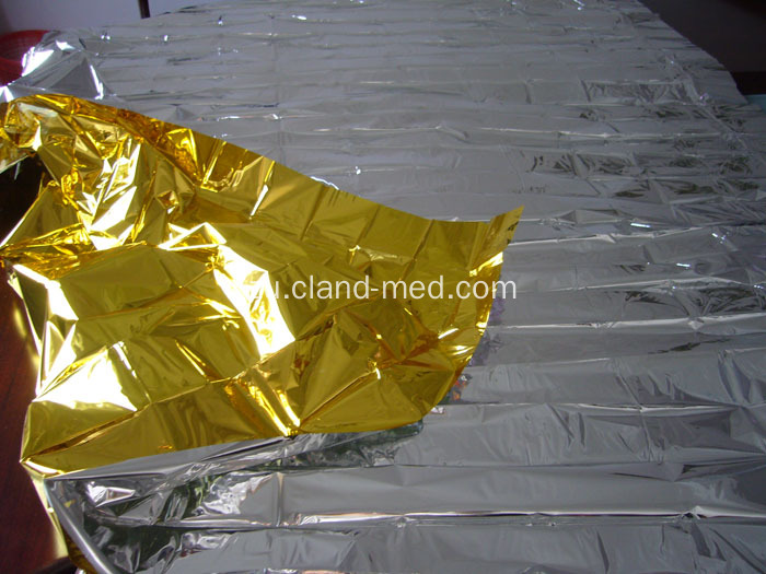 Ukusinda Kwezokwelapha I-First Aid Emergency Foil Rescue Blanket