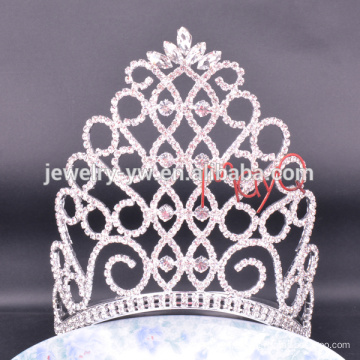 Big Beauty Pageants Tiaras de strass Grandes couronnes de Tall Crystal AB