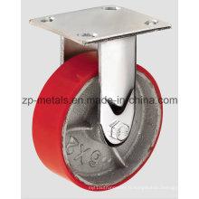 Roulette fixe de 4 pouces en fer robuste