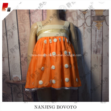 White flowers dotted boutique hot selling women dress
