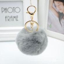 Rex Rabbit Fur Key Chain Pingente para chaveiro ou bolsa de carro para decoração