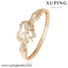 50848 Fashion Charm CZ en forma de corazón 18k brazalete dorado de la joyería