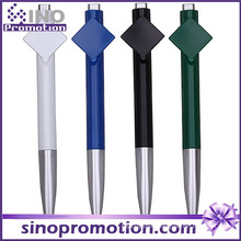 Blank Clip Promotional Ball Pen Advertising Plastic Ballpoint Pen